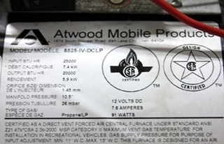 atwood 8525 iv dclp manual