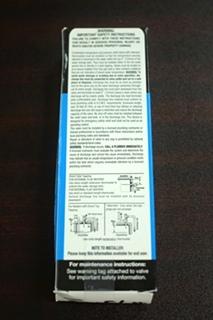 NEW WATTS RV No.: 100XL TEMPERATURE & PRESSURE RELIEF VALVE COMBINATION 3/4