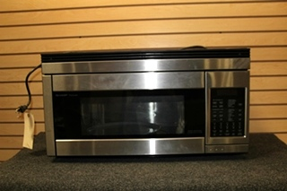USED STAINLESS SHARP CAROUSEL RV CONVECTION MICROWAVE OVEN PN: R-1874F SN: 414949