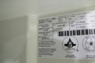 USED NORCOLD STAINLESS STEEL REFRIGERATOR | NORDCOLD MODEL: 1210IMSS SN: 10012523
