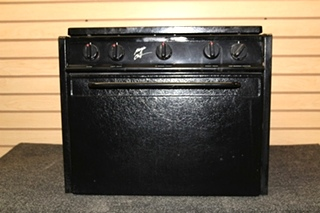 USED MAGIC CHEF RV 3 BURNER BLACK OVEN SIZE FROM 99 FLEETWOOD FLAIR