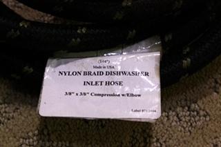 NEW NYLON BRAID DISHWASHER INLET HOSE FOR SALE