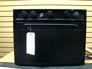 USED RV/MOTORHOME MAGIC CHEF 3 BURNER BLACK OVEN FOR SALE