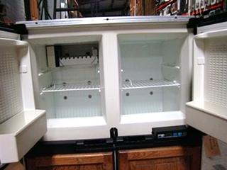 USED RV/MOTORHOME NORCOLD 1200 LRIM WOOD PANEL REFRIGERATOR FOR SALE