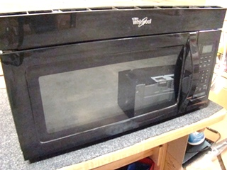 USED RV/MOTORHOME WHIRLPOOL MICROWAVE OVEN MODEL WMH31017AB-0 FOR SALE (BLACK)
