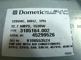 NEW RV/MOTORHOME DOMETIC COMPLETE HEATER KIT FOR SALE P/N 3105164