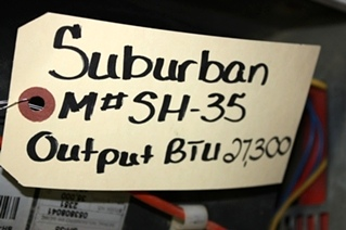 USED SUBURBAN 27,300 BTU FURNACE MODEL: SH-35 FOR SALE