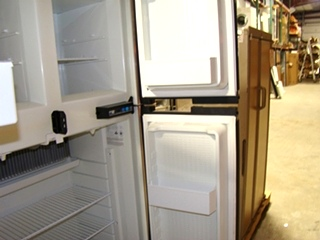 USED NORCOLD 1200 LRIM WOOD PANEL REFRIGERATOR FOR SALE