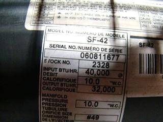 USED RV/MOTORHOME SUBURBAN FURNACE SF-42 FOR SALE