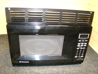 USED RV/MOTORHOME DOMETIC BLACK MICROWAVE FOR SALE