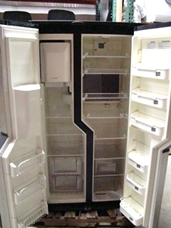 USED RV/MOTORHOME DOMETIC REFRIGERATOR NDA1402 STAINLESS LOOK PANELS