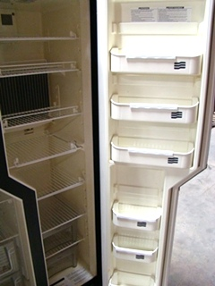 USED RV MOTORHOME DOMETIC REFRIGERATOR | NDA1402 STAINLESS LOOK PANELS