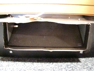 USED RV/MOTORHOME VENTLINE OVER THE OVEN HOOD (BLACK) FOR SALE