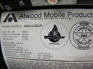 USED RV/MOTORHOME ATWOOD FURNACE 20,000 BTU FOR SALE
