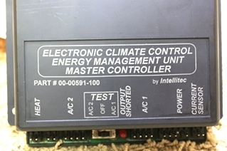 USED INTELLITEC ELECTRONIC CLIMATE CONTROL ENERGY MANAGEMENT UNIT 00-0591-100 FOR SALE