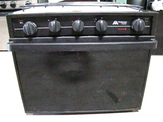 USED RV/MOTORHOME ATWOOD WEDGEWOOD OVEN (BLACK) WHITE BURNERS FOR SALE