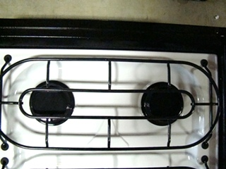 NEW OLD STOCK RV/MOTORHOME MAYTAG SEALED 3 BURNER COOKTOP BLACK/WHITE