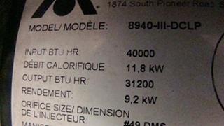 USED RV/MOTORHOME ATWOOD FURNACE 8940-III-DCLP