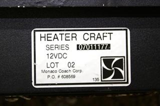 USED AQUA HOT HEATER CRAFT FAN SERIES 07011177 FOR SALE