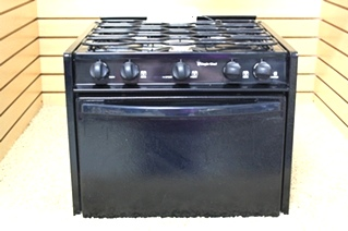 USED RV BLACK MAGIC CHEF 3 BURNER OVEN CLY1620BDB FOR SALE