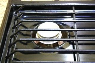 USED BLACK ATWOOD WEDGEWOOD VISION 3 BURNER COOK TOP C-V30BPN FOR SALE
