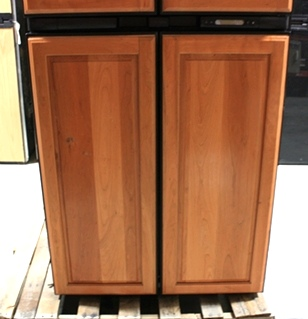 USED NORCOLD WOOD PANEL 2117IM MOTORHOME REFRIGERATOR FOR SALE