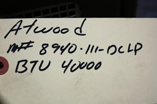 USED ATWOOD 40,000 BTU RV 8940-III-DCLP FURNACE FOR SALE