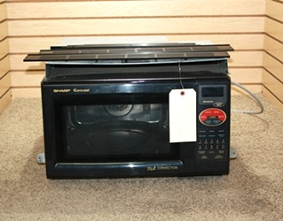 USED RV SHARP CAROUSEL GRILL 2 CONVECTION MICROWAVE R-820BK FOR SALE
