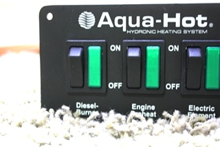 USED RV AQUA-HOT HYDRONIC HEATING SYSTEM SWITCH PANEL WITH WIRING HARNESS FOR SALE