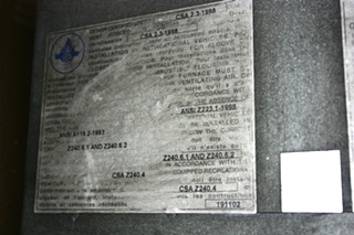 USED SF30F SUBURBAN RV FURNACE MOTORHOME APPLIANCE FOR SALE