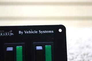 USED MOTORHOME HYDRO-HOT BY VEHICLE SYSTEM SWITCH PANEL FOR SALE