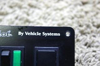 USED RV HYRO-HOT BY VEHICLE SYSTEMS SWITCH PANEL FOR SALE