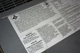 USED SUBURBAN SF-42 40,000 BTU RV FURNACE FOR SALE