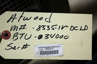 USED 34,000 BTU 8535-IV-DCLP MOTORHOME ATWOOD FURNACE FOR SALE