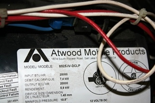 USED ATWOOD 25,000 BTU FURNACE 8525-IV-DCLP RV APPLIANCE FOR SALE
