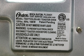 USED MOTORHOME COUNTER TOP OSTER TOASTER OVEN TSSTTVXLDG-001 FOR SALE