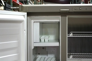 USED RV DOMETIC NDR1492 NEW DIMENSIONS 2 DOOR REFRIGERATOR FOR SALE
