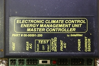USED RV ELECTRONIC CLIMATE CONTROL ENERGY MANAGEMENT UNIT MASTER CONTROLLER BY INTELLITEC FOR SALE