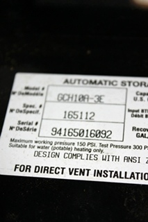 USED RV ATWOOD WATER HEATER GCH10A-3E FOR SALE