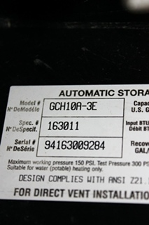 USED MOTORHOME GCH10A-3E ATWOOD WATER HEATER FOR SALE