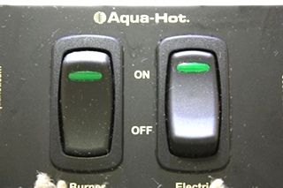 USED RV AQUA-HOT SWITCH PANEL FOR SALE