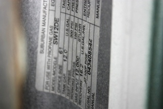 USED SUBURBAN 12 GALLON SW12DE MOTORHOME WATER HEATER FOR SALE