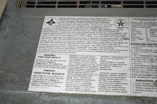 USED RV 30,000 BTU SUBURBAN SF-30 FURNACE FOR SALE