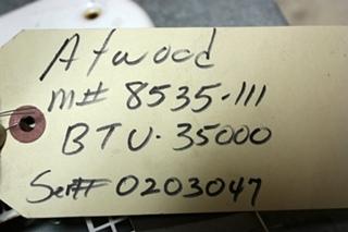 USED 8535-III ATWOOD MOTORHOME FURNACE FOR SALE