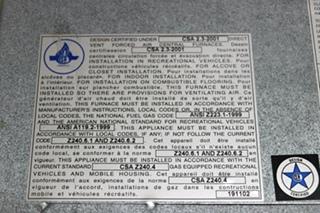 USED SH-35 SUBURBAN RV 35,000 BTU FURNACE FOR SALE