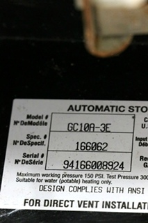 USED RV GC10A-3E ATWOOD 10 GALLON WATER HEATER FOR SALE