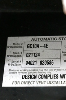 USED MOTORHOME GC10A-4E ATWOOD WATER HEATER FOR SALE