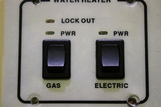 USED RV WATER HEATER SWITCH PANEL FOR SALE