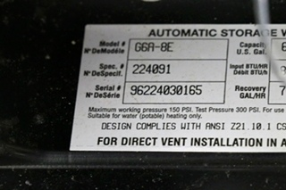 USED RV G6A-8E ATWOOD WATER HEATER FOR SALE