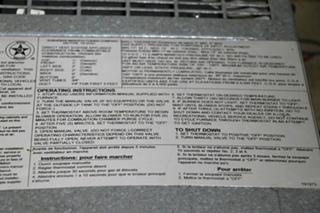 USED SF-42 SUBURBAN MOTORHOME 40,000 BTU FURNACE FOR SALE